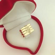 דגם 3004 - רביעיית טבעות זהב צהוב\לבן 14 קראט